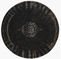 Nordal sort rundt jute tæppe i 75 pct cotton og 25 pct polyester