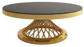 Riana eksklusiv sort rundt sofabord i unik design