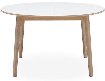 Besalu hvid rund spisebord med udtræk i str. 130 x 76 cm