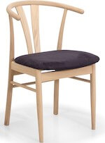 Coint spisebordsstol i eg med sæde i micro fiber