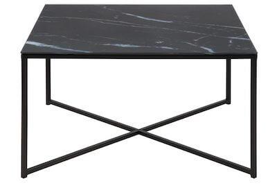 Dino bord - Med sort kunstmarmor i str. 80 x 80 cm