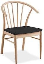 Esløv flot spisebordsstol med armlæn i massiv egetræ