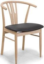 Reno klassisk ubehandlet spisebordsstol med armlæn i eg
