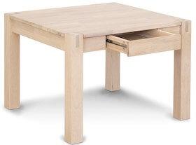Sami lille bord med skuffe i hvidolieret egetræ