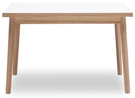Single spisebord i str. 120 x 80 cm med hollandsk udtræk