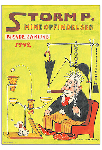 Storm P plakat - Mine opfindelse fra 1942