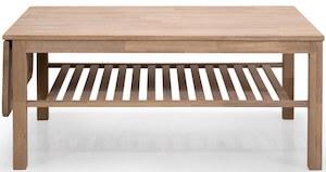 Sundal egetræs sofabord med klap