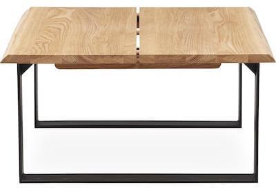 Timber firkantet planke sofabord i lyst træ i str. 45 x 90 x 90 cm