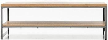 Toka sofabord med sildeben og metal understel