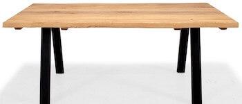 Troense vintage rustik plank sofabord i olieret eg