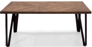 VENI firkantet sildebens sofabord 120 x 60 cm