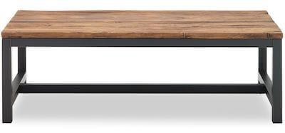 Vintage sofabord - Sort bord med genbrugs elmetræ og sorte metalben