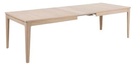 Centry spisebord i egetræ med mulighed for 4 tillægsplader