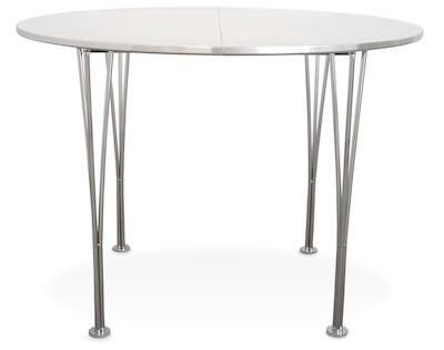 Colombus hvid rundt spisebord med melamin