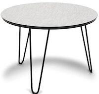 Easy hvid højtrykslaminat marmor bord på Ø60cm