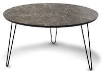 Easy sofabord med sort marmor i højtrykslaminat