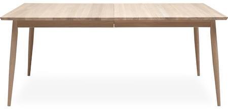 Haslev 8 spisebord i egetræ med plads til 2 tillægsplader