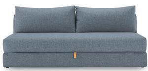 Oswald De lux blå 2 personers sovesofa med skjult magasin