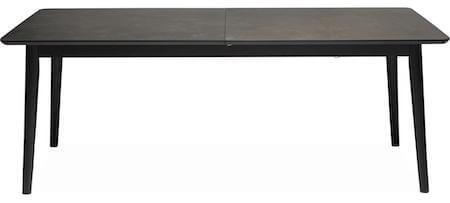 Rosso spisebord med gråbrun keramisk bordplade og ben i sort massiv ask