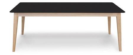 Stockholm klassisk spisebord med sort bordplade og ben i eg