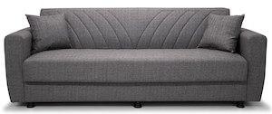 Zoe antracitgrå sovesofa med opbevaring og 2 sofapuder