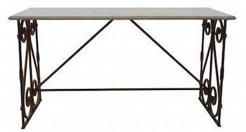 Bloomingville fransk landstil møbel antik bord i sort metal