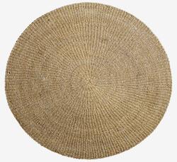 Bloomingville tæppe i natur søgræs på 120 cm