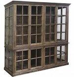 Chic Antique fransk landstil møbel vitrineskab med 8 låger