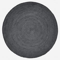 Nordal sort rundt tæppe på 150 cm i diameter