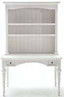 Novasolo provence hvid mahogni skrivebord med 2 skuffer