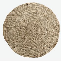 Tine K Home jute tæppe i kraftig flet på 80 cm
