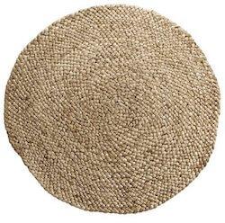 Tine K. Home jute tæppe i kraftig naturlig flet på 220 Ø cm