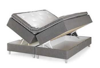 Accent billig seng med opbevaring i str. 180 x 200 uden gavl