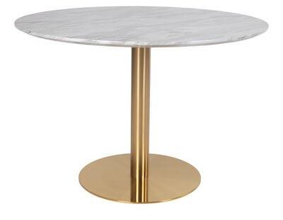 Bolzano 2 personers spisebord med marmor og messing look