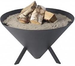 Bonfire CONE bålfad i sort pulverlakering
