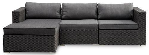 Borgio lounge sofa med chaiselong udført i polyrattan