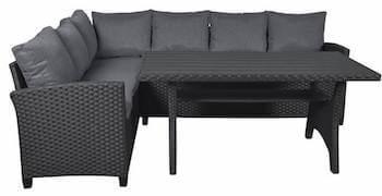 Canada lounge havemøbler der kan stå ude udført sort flet