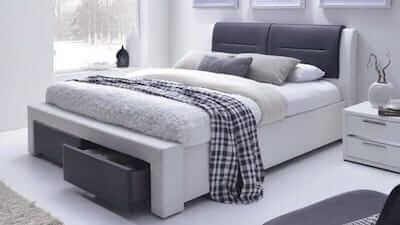 Cassandra II dobbelt seng med opbevaring i str. 140 x 200 cm