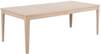 Centry spisebord i hvidolieret eg og mulighed for 4 tillægsplader