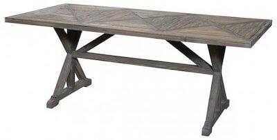 Chic Antique fransk landstil genbrugstræ spisebord