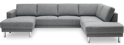Cleveland u sofa med sovefunktion til 5 personer med stof betræk