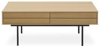 Doppler sofabord med opbevaring med push-funktion