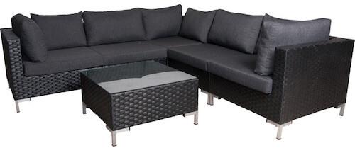 Ebeltoft vedligeholdelsesfrit lounge havemøbler bestående af 6 dele
