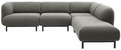 Egholm u sofa med modulopbygning i moderne design og mange detaljer