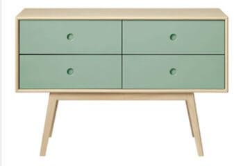 FDB møbler Foersom & Hiort-Lorenzen designer kommode i solidt materiale