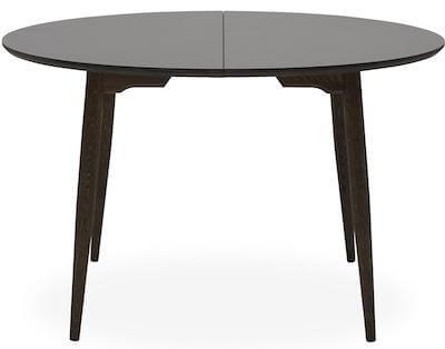 Haslev 9-H luksus spisebord i massiv mørk grå olieret egetræ