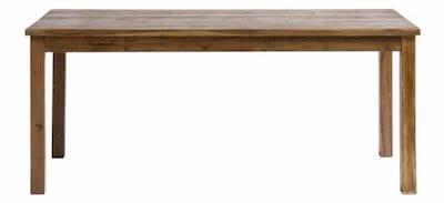 Nordal spisebord udført i genbrugs teak i flot moderne natur design