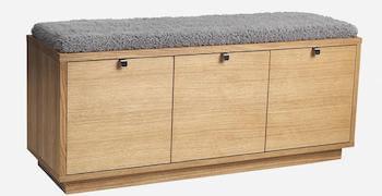 Rowico confetti bænk i nordisk design med siddeplads