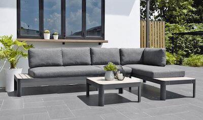 Scancom lounge havemøbler i nonwood inkl. vaskbart hynder