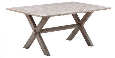 Sika design spisebord med krydsunderstel udført i genbrugsteak